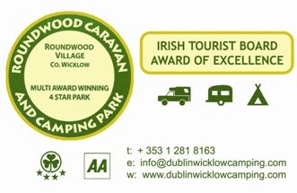 Roundwood caravan Park business card